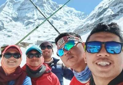 Amazing ABC Trekking with Ram the Guide